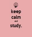 keep calm and study.  - Personalised Tea Towel: Premium