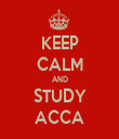 KEEP CALM AND STUDY ACCA - Personalised Tea Towel: Premium