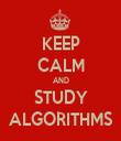 KEEP CALM AND STUDY ALGORITHMS - Personalised Tea Towel: Premium
