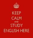 KEEP CALM AND STUDY ENGLISH HERE - Personalised Tea Towel: Premium