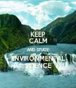 KEEP CALM AND STUDY ENVIRONMENTAL SCIENCE - Personalised Tea Towel: Premium