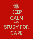 KEEP CALM AND  STUDY FOR CAPE - Personalised Tea Towel: Premium