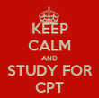 KEEP CALM AND STUDY FOR CPT - Personalised Tea Towel: Premium