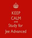 KEEP CALM AND Study for  Jee Advanced - Personalised Tea Towel: Premium