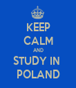 KEEP CALM AND STUDY IN  POLAND - Personalised Tea Towel: Premium