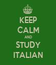 KEEP CALM AND STUDY ITALIAN - Personalised Tea Towel: Premium