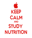 KEEP CALM AND STUDY  NUTRITION - Personalised Tea Towel: Premium