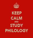 KEEP CALM AND STUDY PHILOLOGY - Personalised Tea Towel: Premium