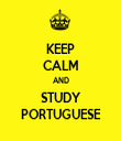 KEEP CALM AND STUDY PORTUGUESE - Personalised Tea Towel: Premium