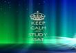 KEEP CALM AND STUDY SSAT - Personalised Tea Towel: Premium