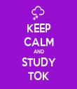 KEEP CALM AND STUDY TOK - Personalised Tea Towel: Premium