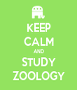 KEEP CALM AND STUDY ZOOLOGY - Personalised Tea Towel: Premium