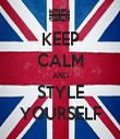 KEEP CALM AND STYLE YOURSELF - Personalised Tea Towel: Premium