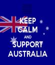 KEEP CALM AND SUPPORT AUSTRALIA - Personalised Tea Towel: Premium