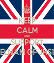 KEEP CALM AND SUPPORT DELNAM OF JHS10 - Personalised Tea Towel: Premium