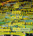 KEEP CALM AND SUPPORT FCN - Personalised Tea Towel: Premium