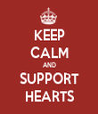 KEEP CALM AND SUPPORT HEARTS - Personalised Tea Towel: Premium