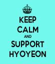 KEEP CALM AND SUPPORT HYOYEON - Personalised Tea Towel: Premium