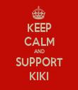 KEEP CALM AND SUPPORT KIKI - Personalised Tea Towel: Premium