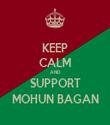 KEEP CALM AND SUPPORT MOHUN BAGAN - Personalised Tea Towel: Premium