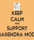 KEEP CALM AND SUPPORT NARENDRA MODI - Personalised Tea Towel: Premium