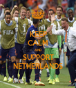 KEEP CALM AND SUPPORT NETHERLANDS - Personalised Tea Towel: Premium