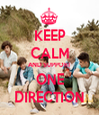 KEEP CALM AND SUPPORT ONE DIRECTION - Personalised Tea Towel: Premium