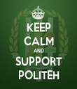 KEEP CALM AND SUPPORT POLITEH - Personalised Tea Towel: Premium