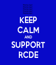 KEEP CALM AND SUPPORT RCDE - Personalised Tea Towel: Premium