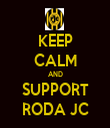 KEEP CALM AND SUPPORT RODA JC - Personalised Tea Towel: Premium