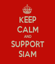 KEEP CALM AND SUPPORT SIAM - Personalised Tea Towel: Premium
