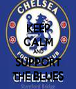 KEEP CALM AND SUPPORT THE BLUES - Personalised Tea Towel: Premium