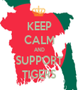 KEEP CALM AND SUPPORT TIGERS - Personalised Tea Towel: Premium