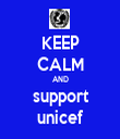 KEEP CALM AND support unicef - Personalised Tea Towel: Premium