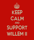 KEEP CALM AND SUPPORT WILLEM II - Personalised Tea Towel: Premium