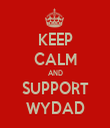 KEEP CALM AND SUPPORT WYDAD - Personalised Tea Towel: Premium