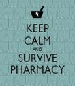KEEP CALM AND SURVIVE PHARMACY - Personalised Tea Towel: Premium
