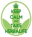 KEEP CALM AND TAKE HERBALIFE - Personalised Tea Towel: Premium