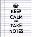 KEEP CALM AND TAKE NOTES - Personalised Tea Towel: Premium