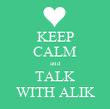 KEEP CALM and TALK WITH ALIK - Personalised Tea Towel: Premium