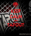 KEEP CALM AND TAPOUT  - Personalised Tea Towel: Premium