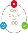 KEEP CALM AND TDD  - Personalised Tea Towel: Premium