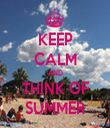 KEEP CALM AND THINK OF SUMMER - Personalised Tea Towel: Premium
