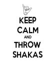 KEEP CALM AND THROW SHAKAS - Personalised Tea Towel: Premium