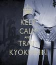 KEEP CALM AND TRAIN KYOKUSHIN - Personalised Tea Towel: Premium