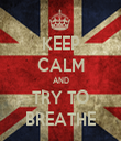 KEEP CALM AND TRY TO BREATHE - Personalised Tea Towel: Premium