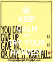 KEEP CALM AND TRY YOUR HARDEST - Personalised Tea Towel: Premium