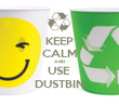 KEEP CALM AND USE  DUSTBIN - Personalised Tea Towel: Premium