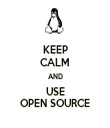 KEEP CALM AND USE OPEN SOURCE - Personalised Tea Towel: Premium