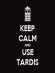KEEP CALM AND USE TARDIS - Personalised Tea Towel: Premium